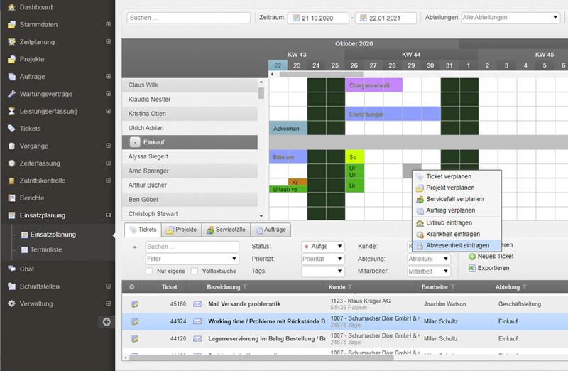 Einsatzplanung Service Software