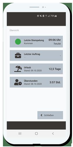 Zeiterfassung App Stempeluhr